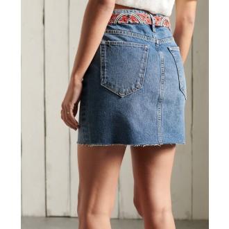 Superdry dámská riflová sukně Denim Mini - Modrá