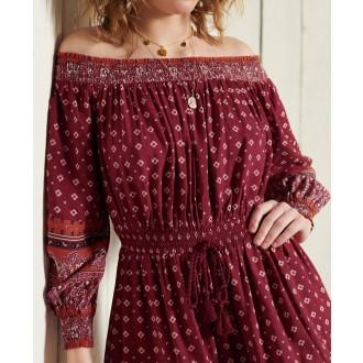 Superdry dámské šaty Amira - Červená