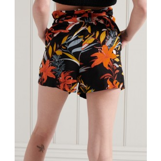 Superdry dámské krátké kalhoty Printed paperbag - Vícebarevné