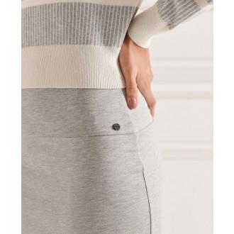 Superdry dámská sukně Classic Jersey Midi - Světle šedá