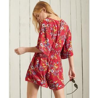 Superdry dámské plážové šaty Beach - Červená