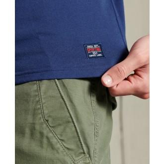 Superdry pánské triko Collegiate Graphic Lightweight - Námořnická modrá