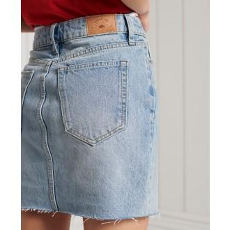 Superdry dámská riflová sukně Denim Mini - Světlemodrá