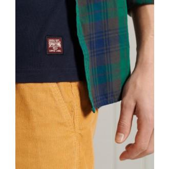 Superdry pánské triko Vintage Logo Chenille Standard Weight - Tmavěmodrá