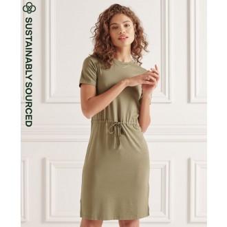 Superdry dámské šaty Drawstring - Zelená