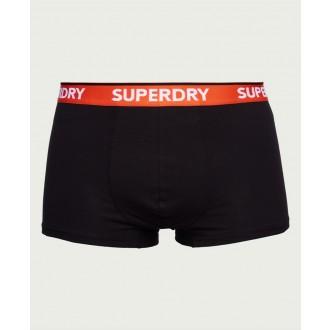 Superdry pánske boxerky Classic Trunk trojbalenie - Sivá