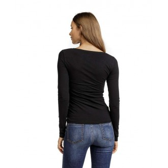 Devergo dámské triko s dlouhými rukávy - Černá