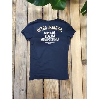 Retrojeans dámské triko HAZEL - Tmavěmodrá