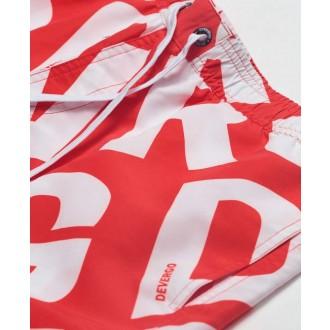 Devergo pánské plavky - červená / bílá