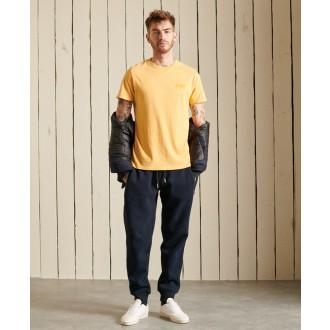Superdry pánské tričko Organic Cotton Vintage Logo Embroidered - Žlutá