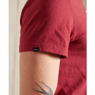 Superdry pánské tričko Organic Cotton Vintage Logo Embroidered - Červená