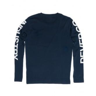 Devergo Pánské tričko s dlouhým rukávem - Námořnická modrá