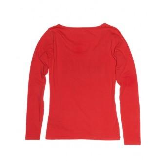 Devergo dámské tričko s dlouhým rukávem - Červená
