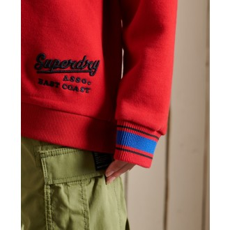 Superdry dámská mikina Collegiate - Červená