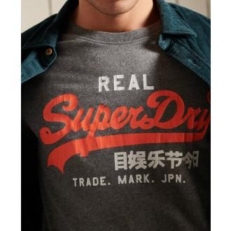 Superdry pánské tričko Vintage Logo American - Šedá