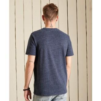 Superdry pánské tričko Vintage Logo Source - Modrá