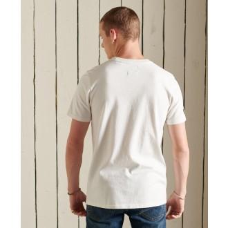 Superdry pánské tričko Heritage Mountain - Krémová