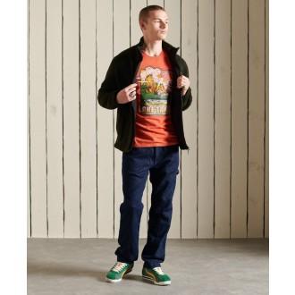 Superdry pánské tričko Heritage Mountain - Oranžová