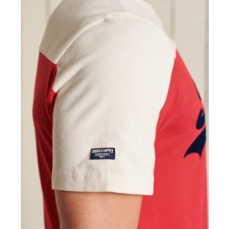 Superdry pánské tričko Vintage Logo Ac Colour block - Červená