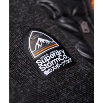 Superdry pánská mikina Storm Hybrid Zip - Tmavě šedá