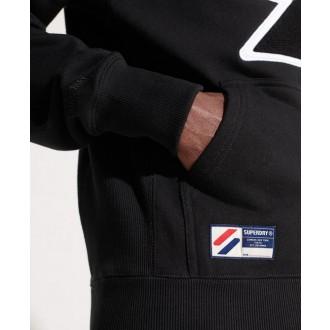 Superdry pánská mikina Sportstyle Logo Che - Černá