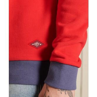 Superdry pánská mikina Core Logo Ac Ringer - Červená