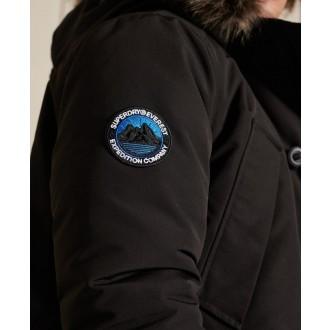 Superdry pánská bunda Everest Parka Coat - Černá