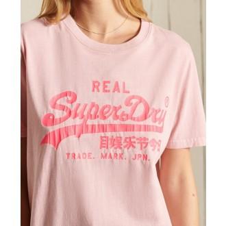 Superdry dámské tričko Vl Ac - Růžová