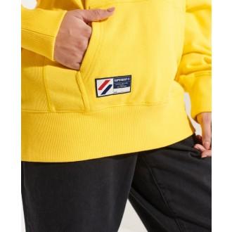 Superdry dámská mikina Sportstyle Logo Che Os - Žlutá