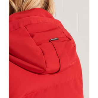 Superdry dámská zimní bunda Sportstyle Everest Bomber - Červená