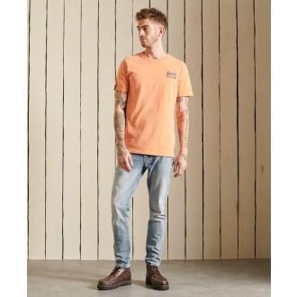Superdry pánské tričko Vintage Logo American - Oranžová