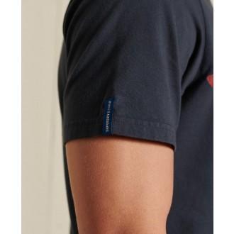 Superdry pánské tričko Vintage Logo American - Tmavěmodrá