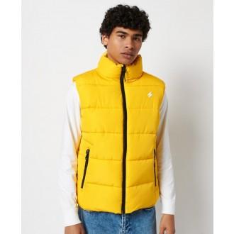 Superdry pánská zimní vesta Sports Puffer - Žlutá