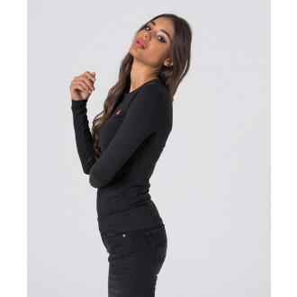 Retrojeans dámské triko s dlouhým rukávem ZENIT L ROUND W 20 - Černá