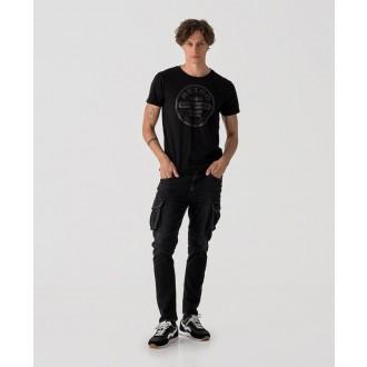 Retrojeans pánské tričko ETNA - Černá