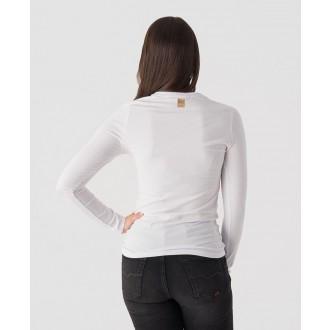 Retrojeans dámské tričko s dlouhým rukávem Nadim - Bílá