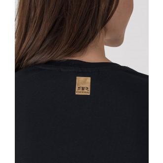 Retrojeans dámské tričko s dlouhým rukávem Nadim - Černá