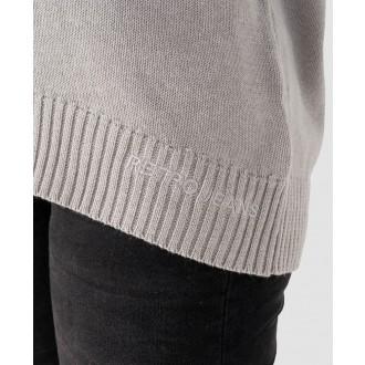Retrojeans dámský pulovr LORETTA - Šedá