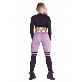 NEBBIA Legíny Over the knee - Purple 286