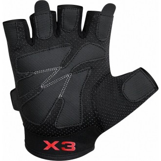 RDX Amara Fitness rukavice - Černe
