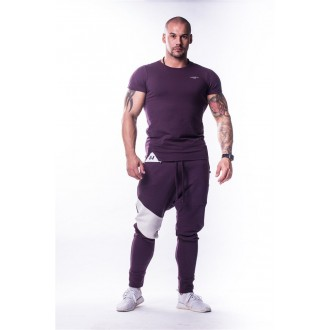 NEBBIA Muscle Back tričko 728 Burgundy