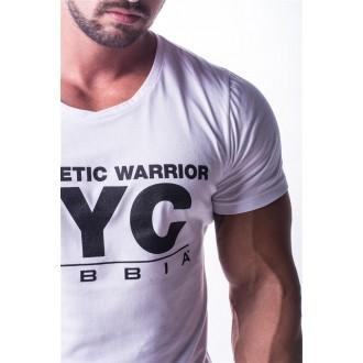 NEBBIA Atheltic Logo tričko 730 - Bíle