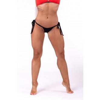 Nebbia Šněrovací scrunchies butt bikini 673 Spodný díl  - Černé
