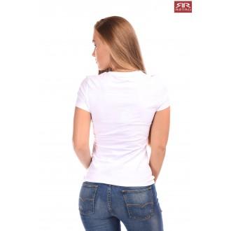 Dámské triko Retro Jeans Emerson - Bílé