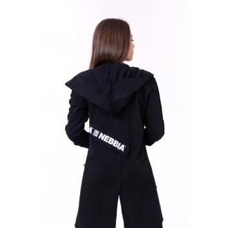 Nebbia predĺžený kabát Be rebel 681 - Černý