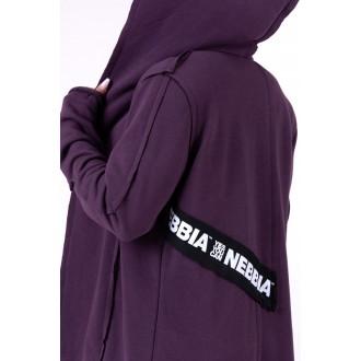 Nebbia predĺžený kabát Be rebel 681 - Burgundy