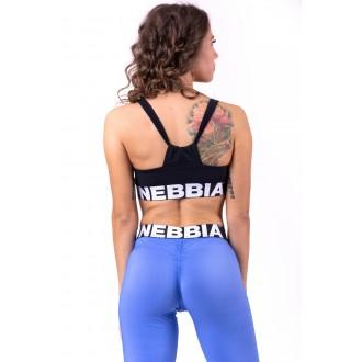 Nebbia Dámska športovní podprsenka Athletic Cut Out 695 - Černá
