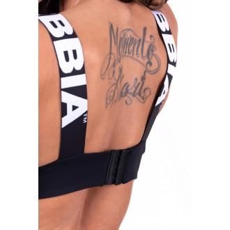Nebbia dámska športovní podprsenka Lace-up 694 - Černá