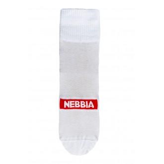 Nebbia EXTRA MILE crew ponožky - Bílé