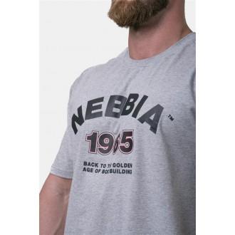 Nebbia Golden Era tričko 192 - Šedé